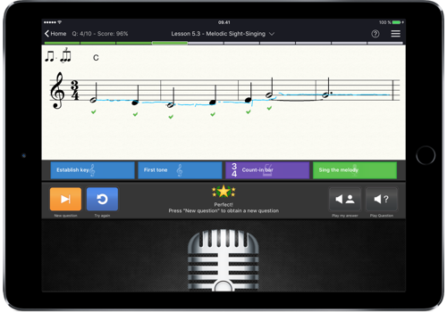 EarMaster Sight-singing iPad App