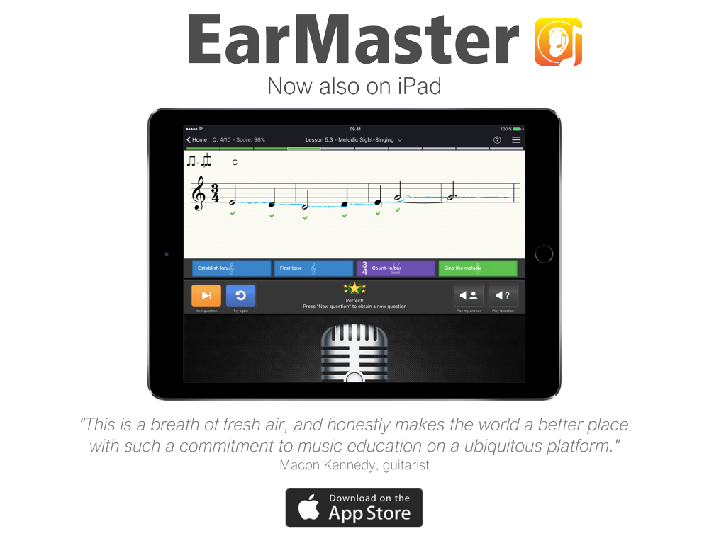 earmaster now also for ipad