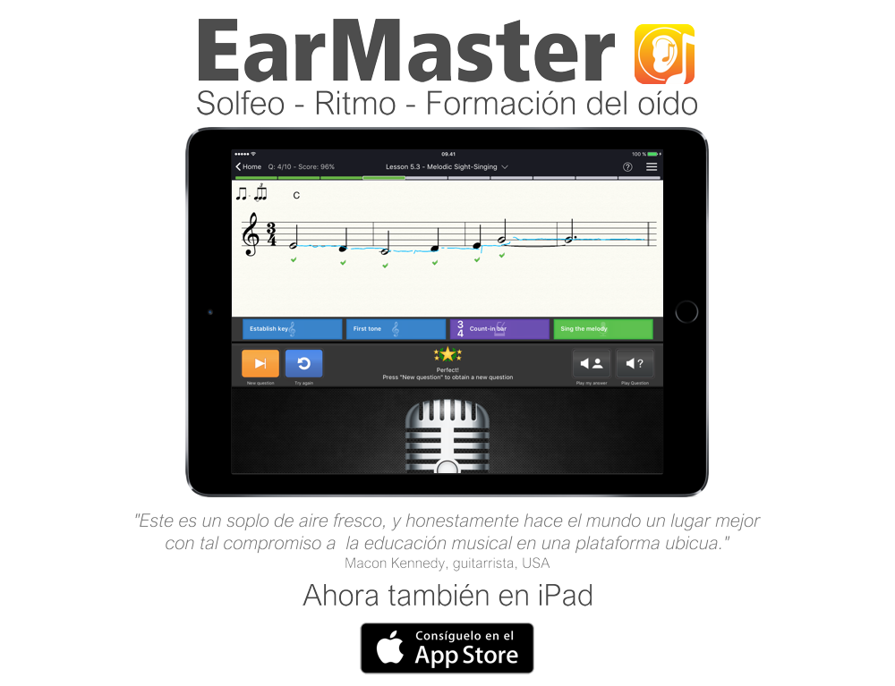 earmaster now for ipad es