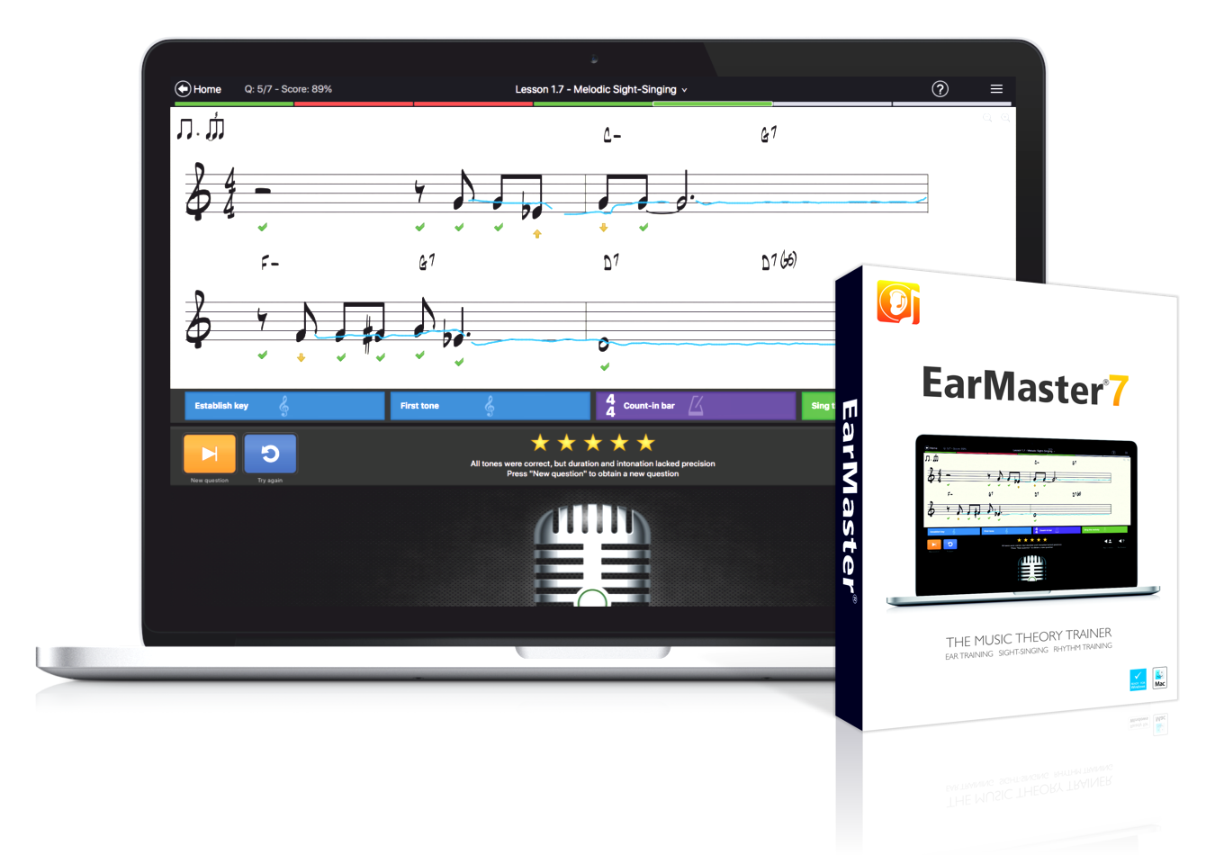 EarMaster 7 - Music Theory Trainer with ear training, sight-singing practice and rhythm study.